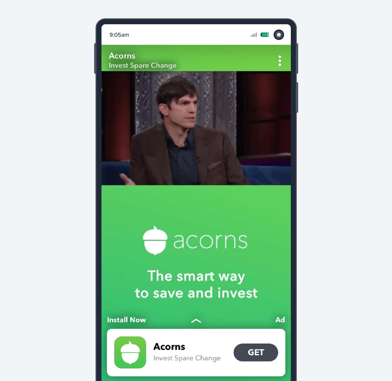 Acorns mobile ad