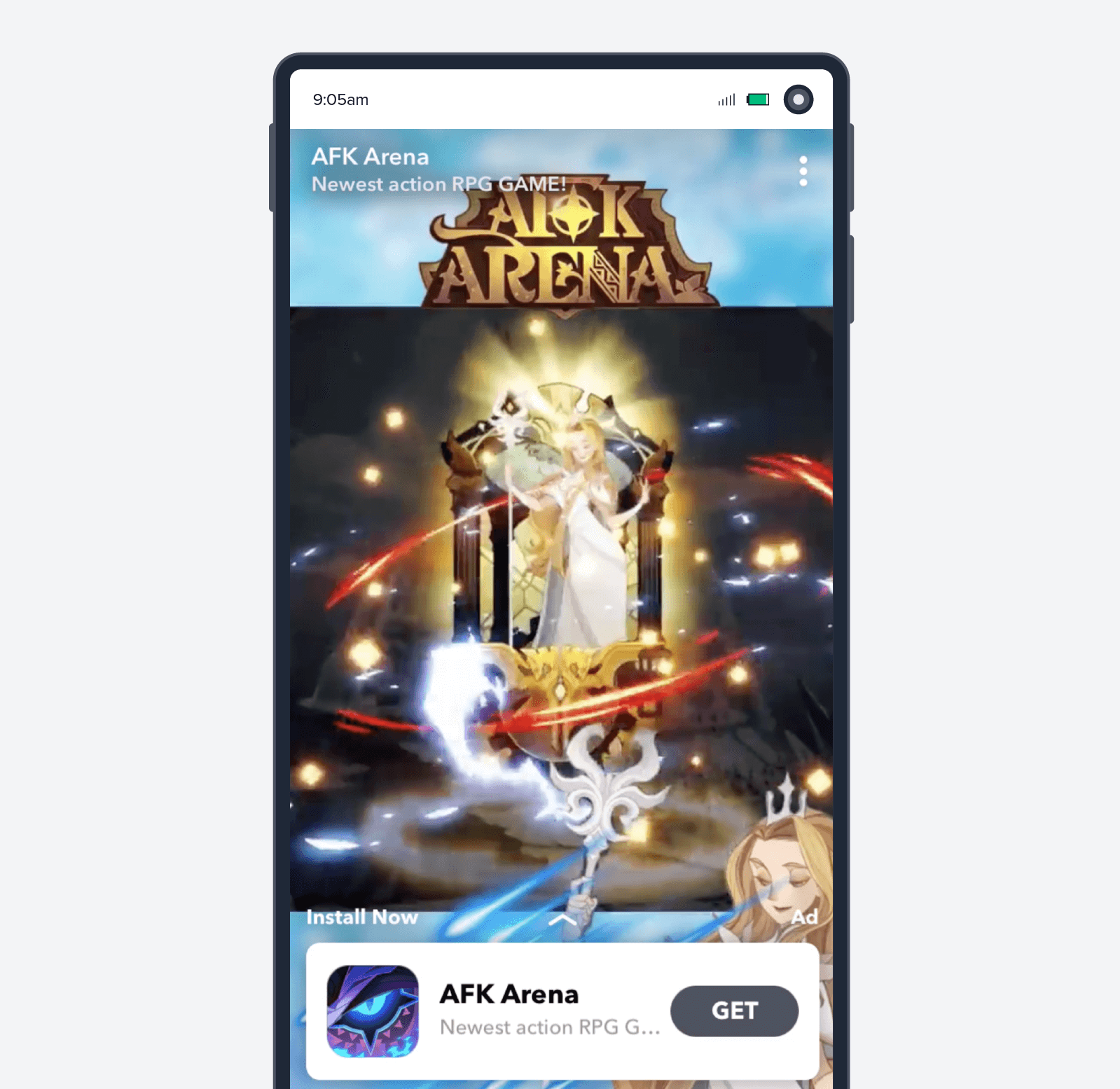 AFK arena games mobile ad