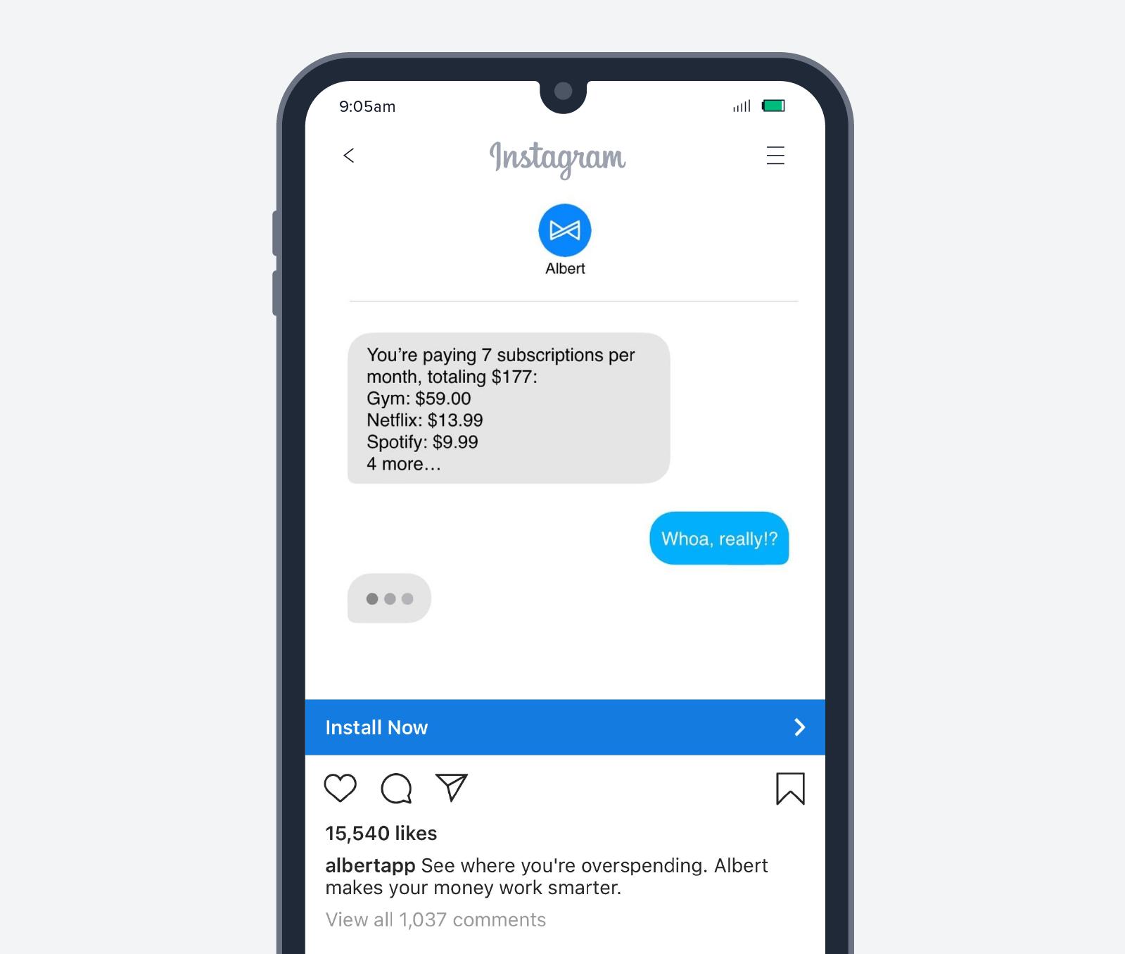 Albert app install add screenshot