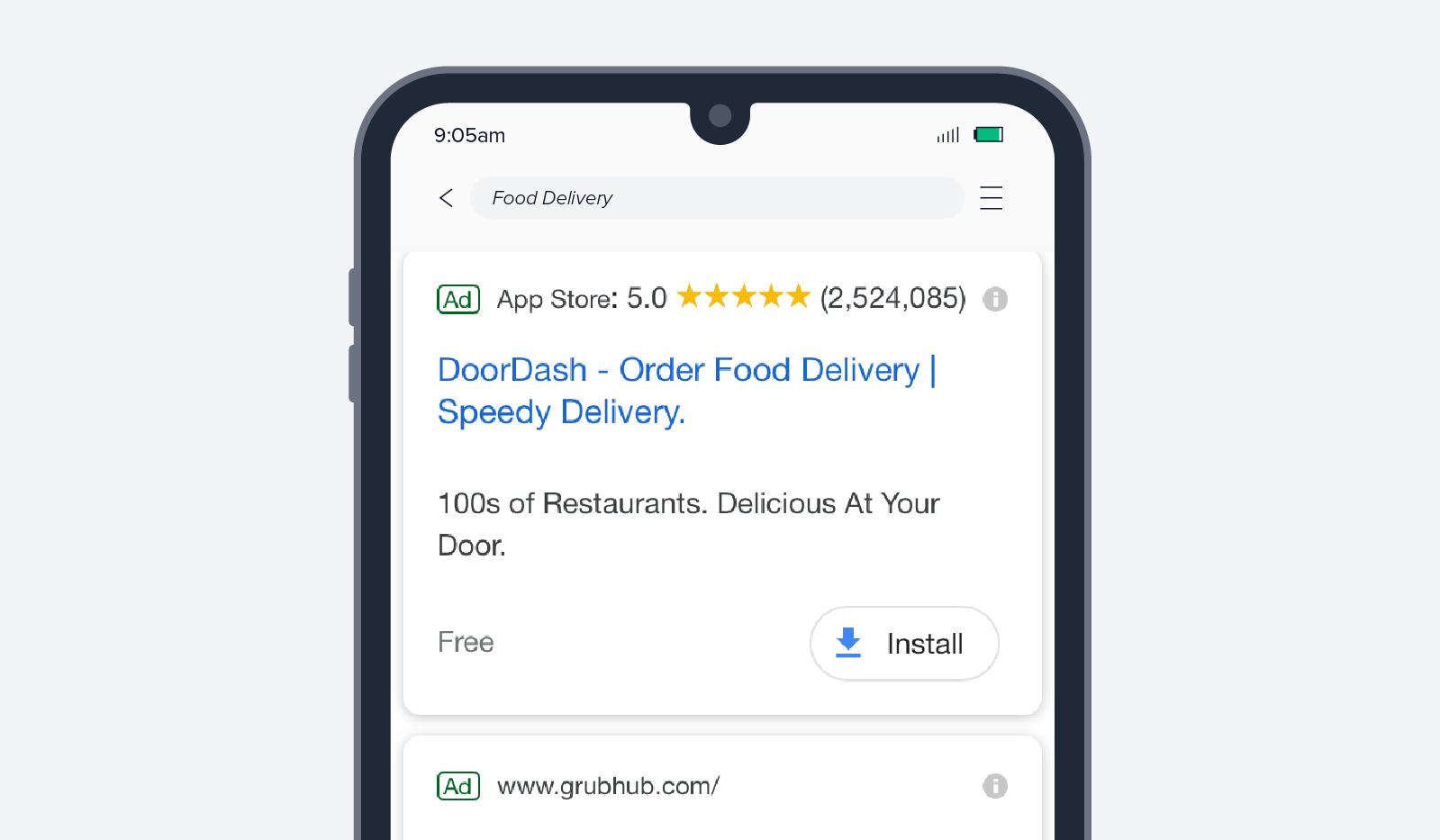 DoorDash app install ad