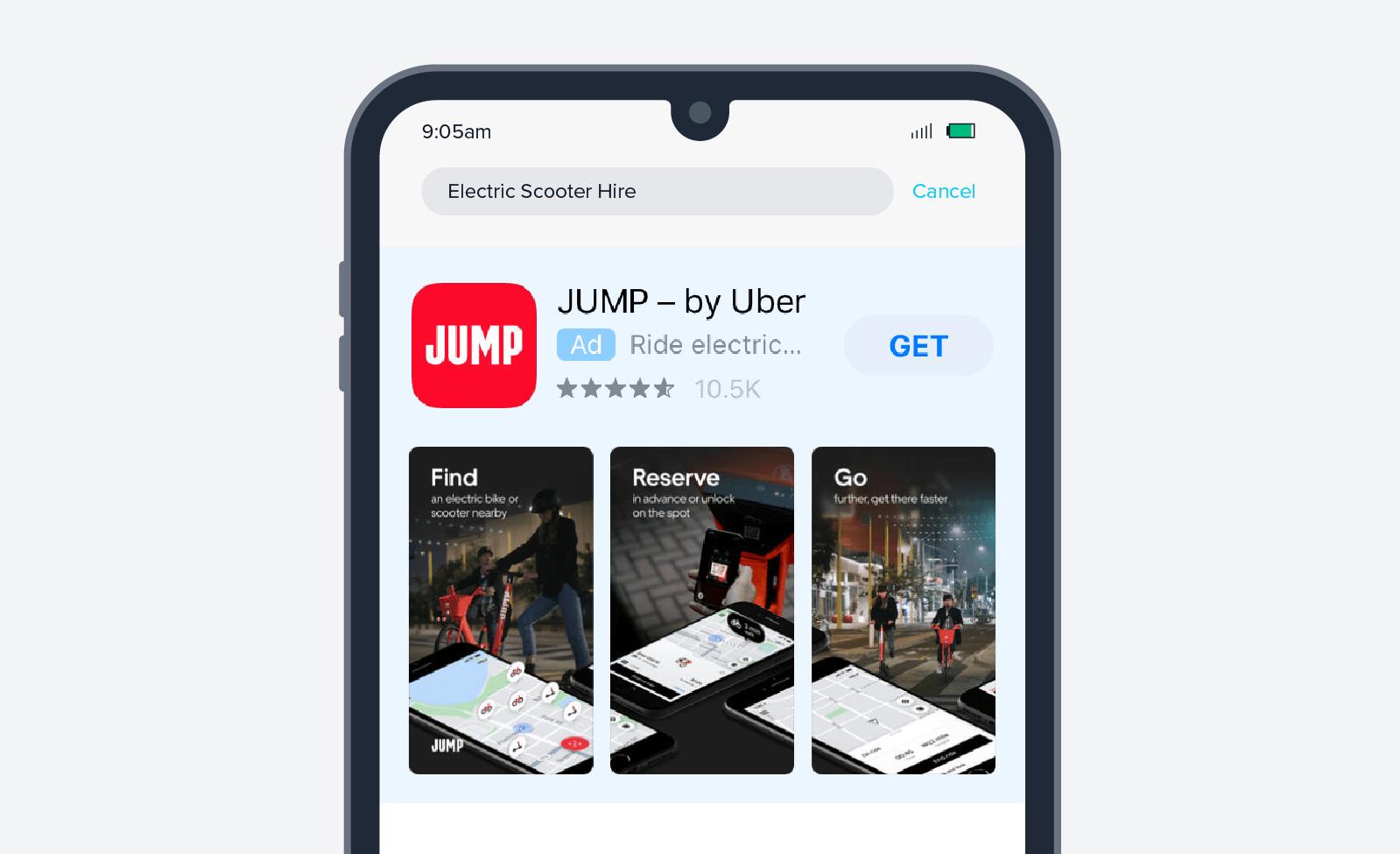 Jump app install ad