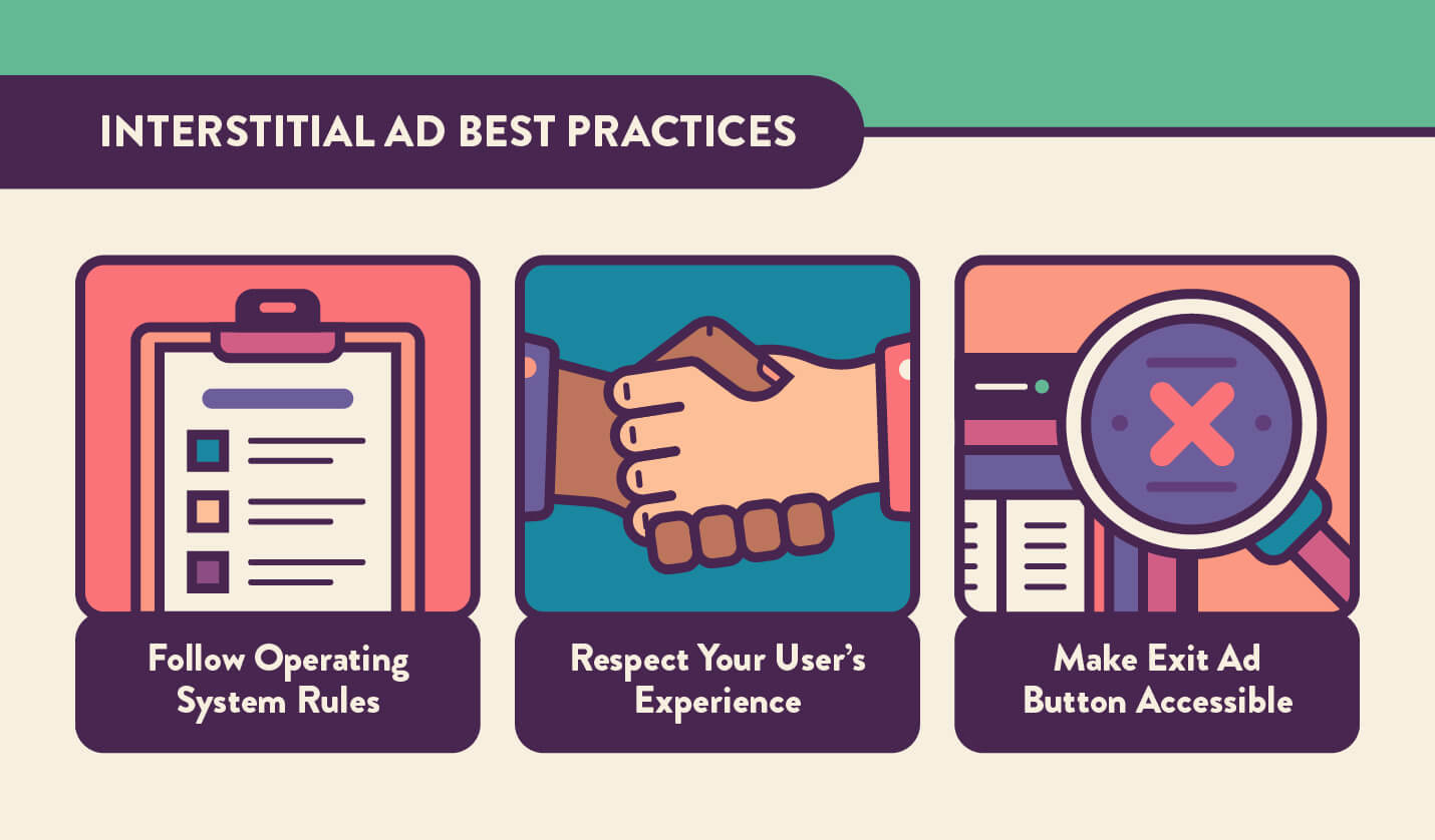 how to effectively and properly place interstitial ads