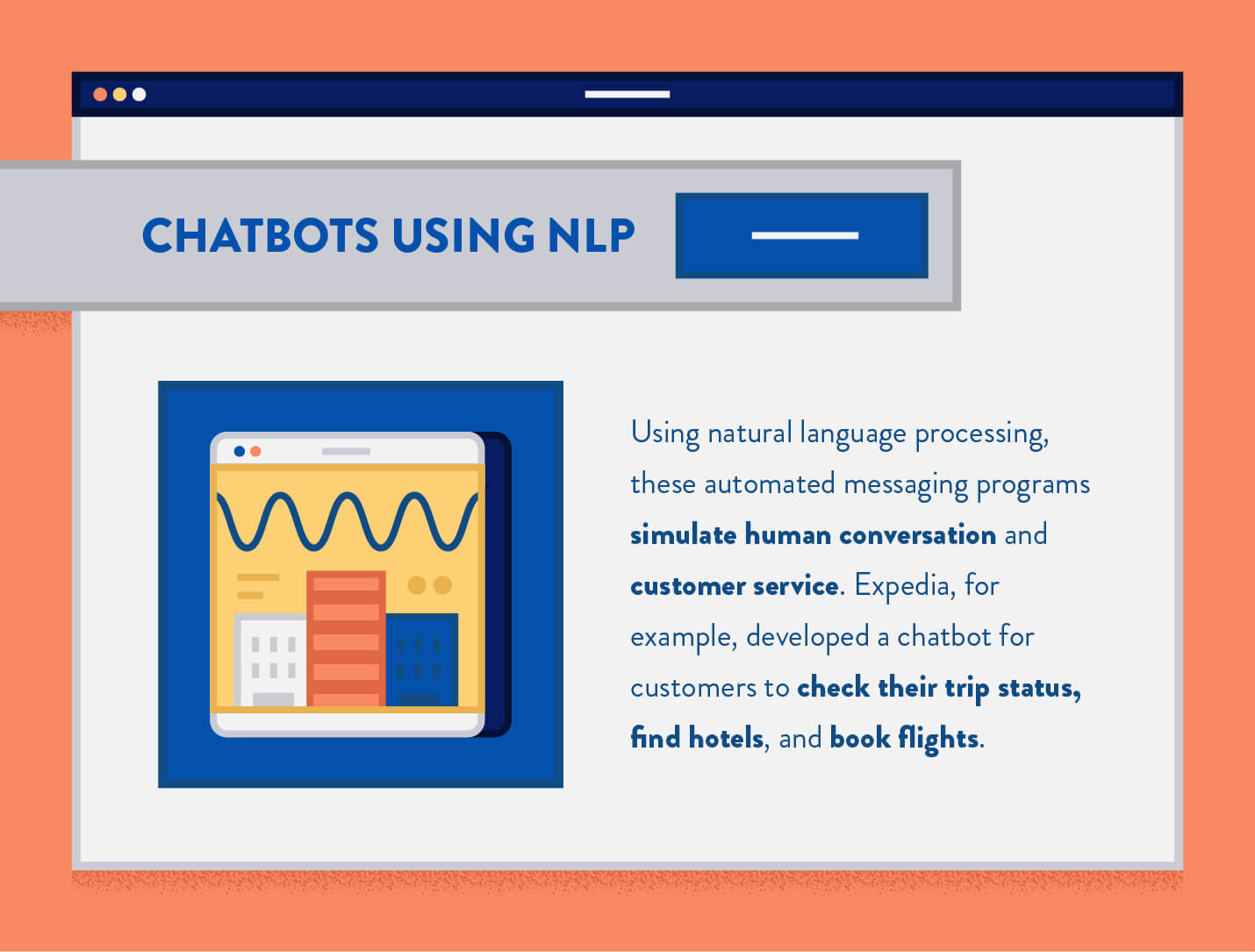 how NLP is being used by chatbots from example expedia