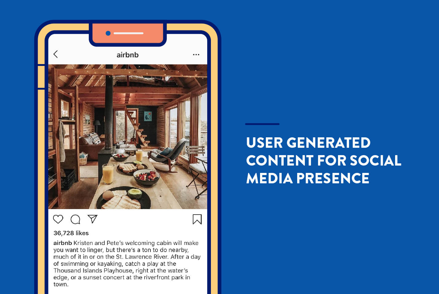 How to market an app using user generated content for social media example from Airbnb