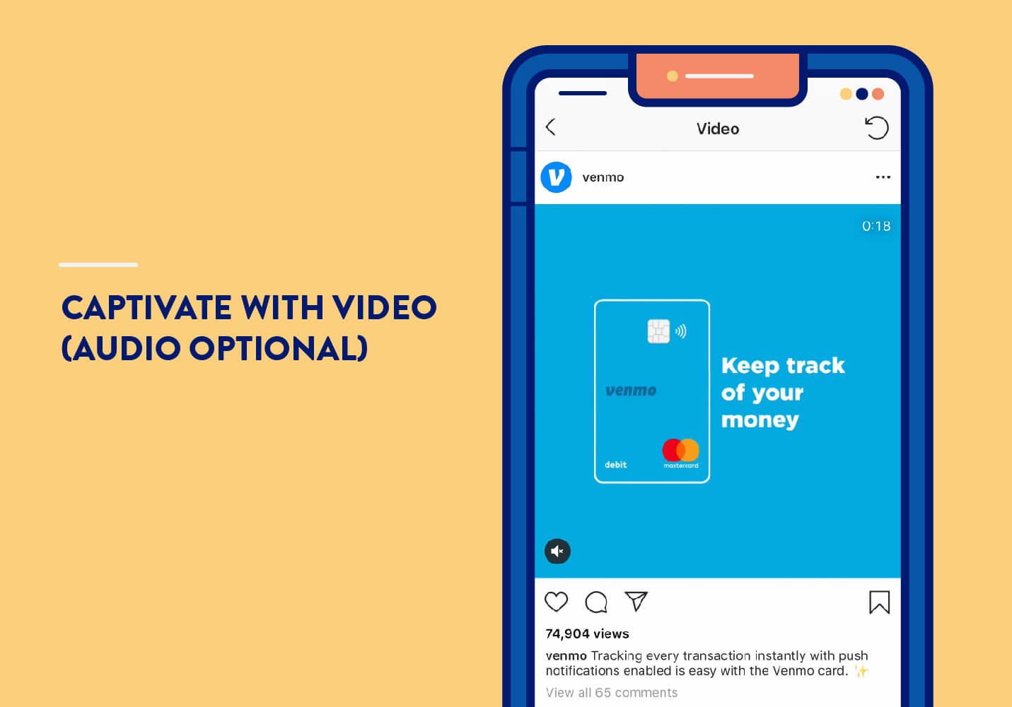 mobile app marketing strategies with example video from venmo on instagram without audio