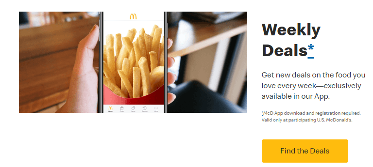 FOMO marketing tactic - make it exclusive like with McDonalds' app