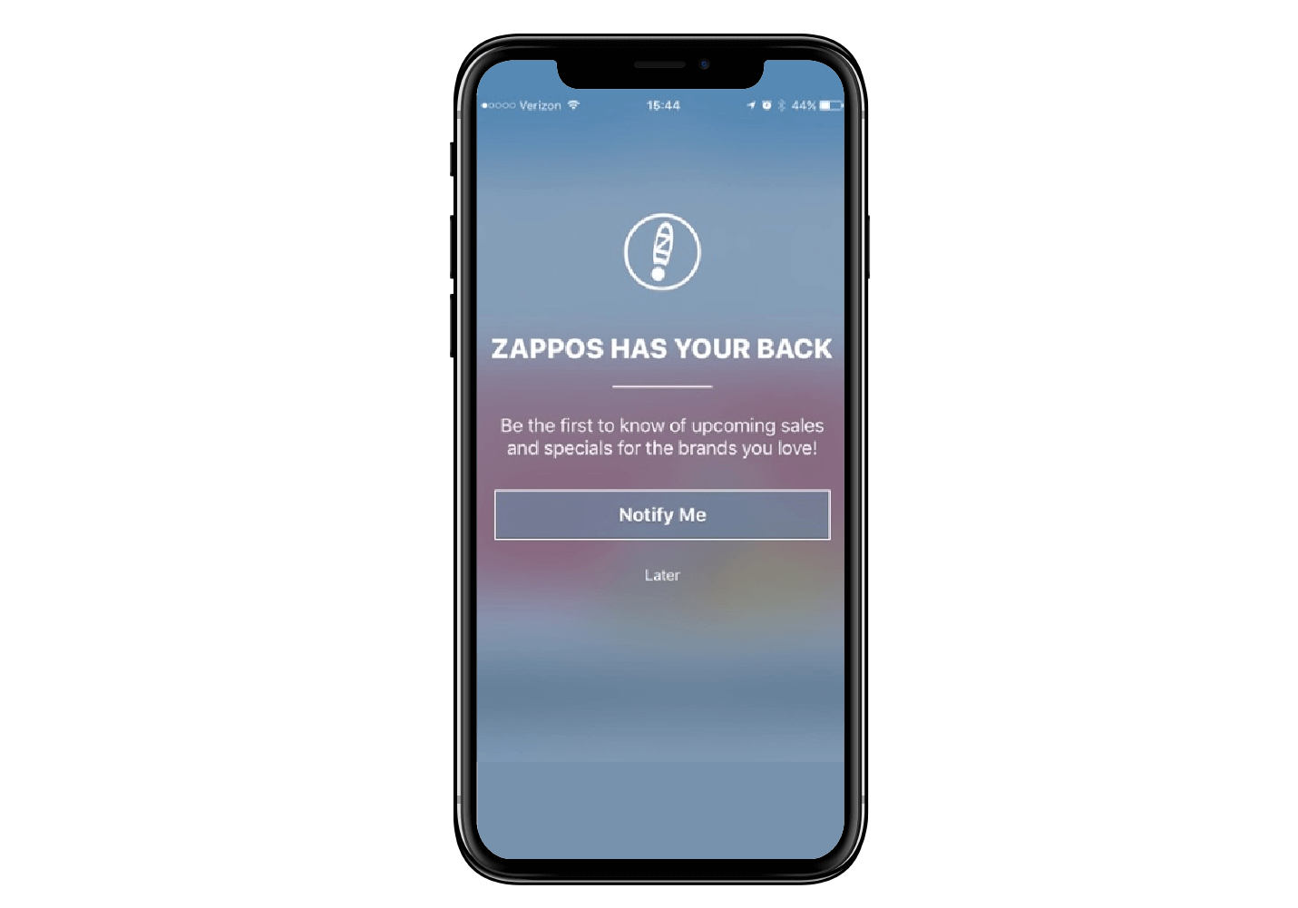 Zappos - Opt-in for Push Notifications