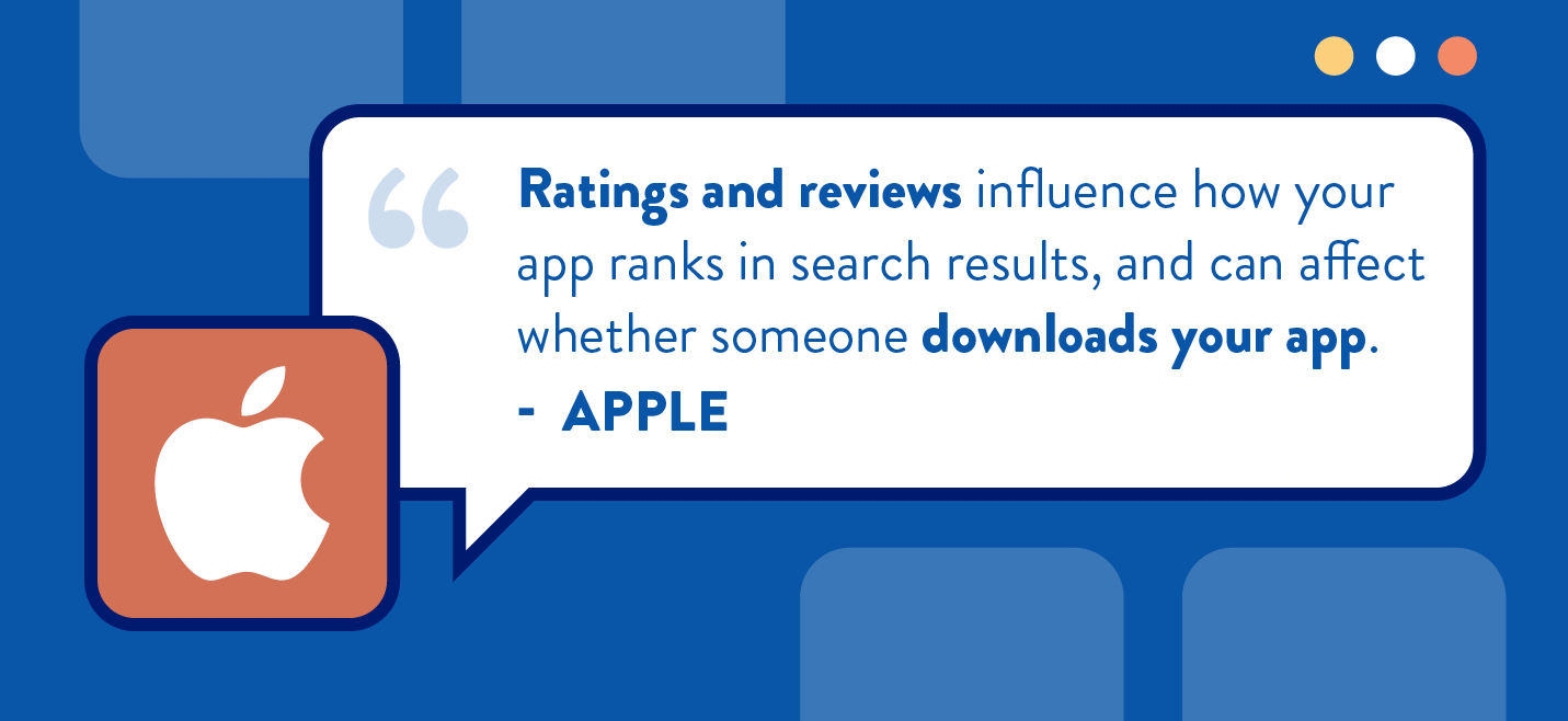 ratings and reviews advice from apple