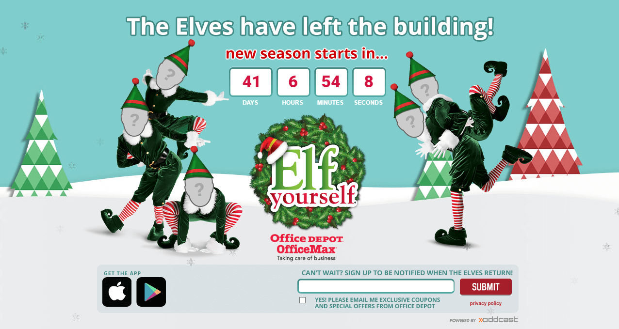 Microsite example - ElfYourself