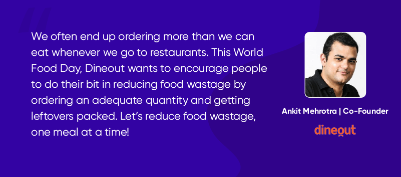World Food Day initiative by Dineout=