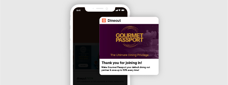 More repeat users for dineout App with CleverTap