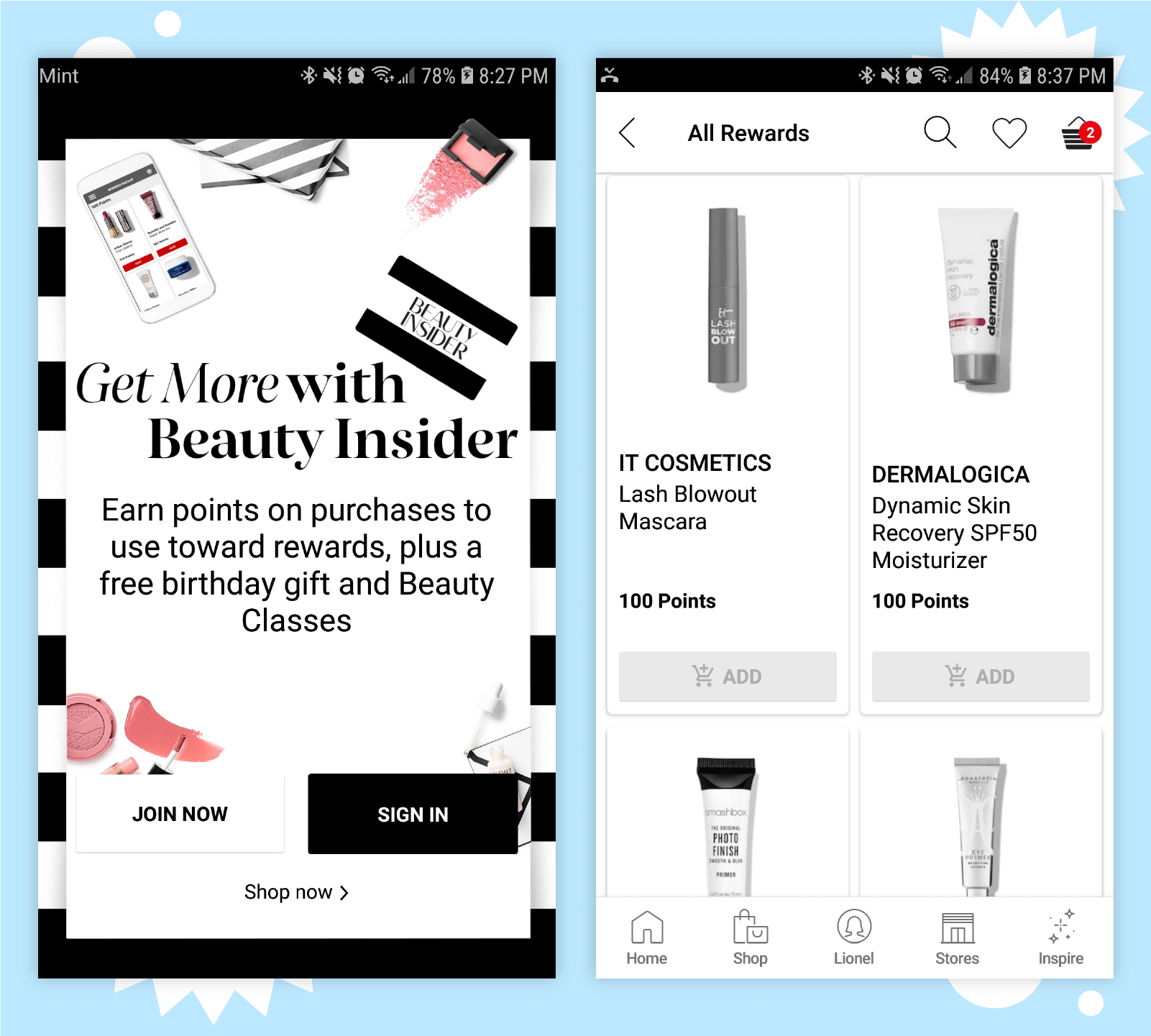 Relationship marketing by Sephora includes treating customers like VIPs