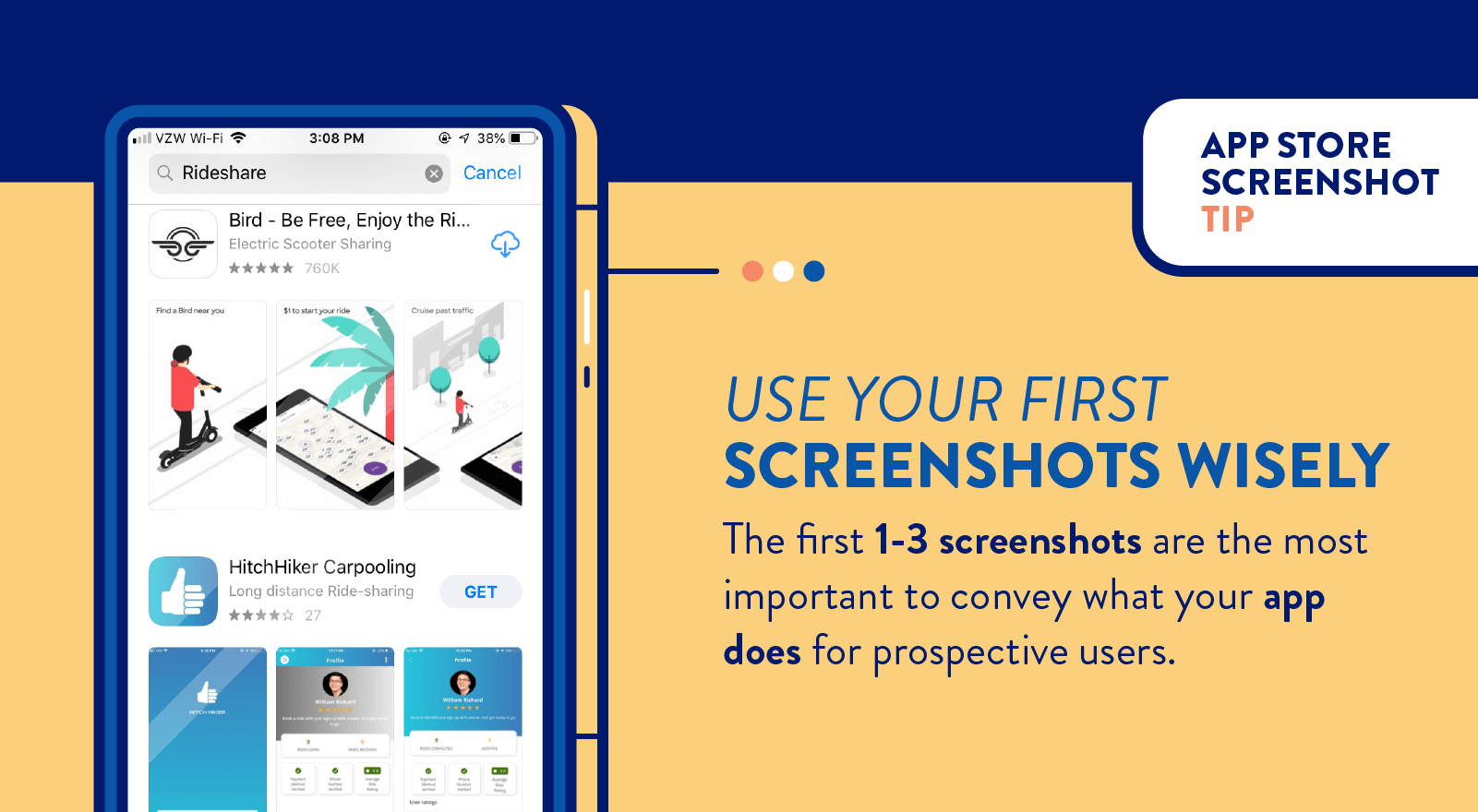 app store screenshots tip to use the first ones wisely