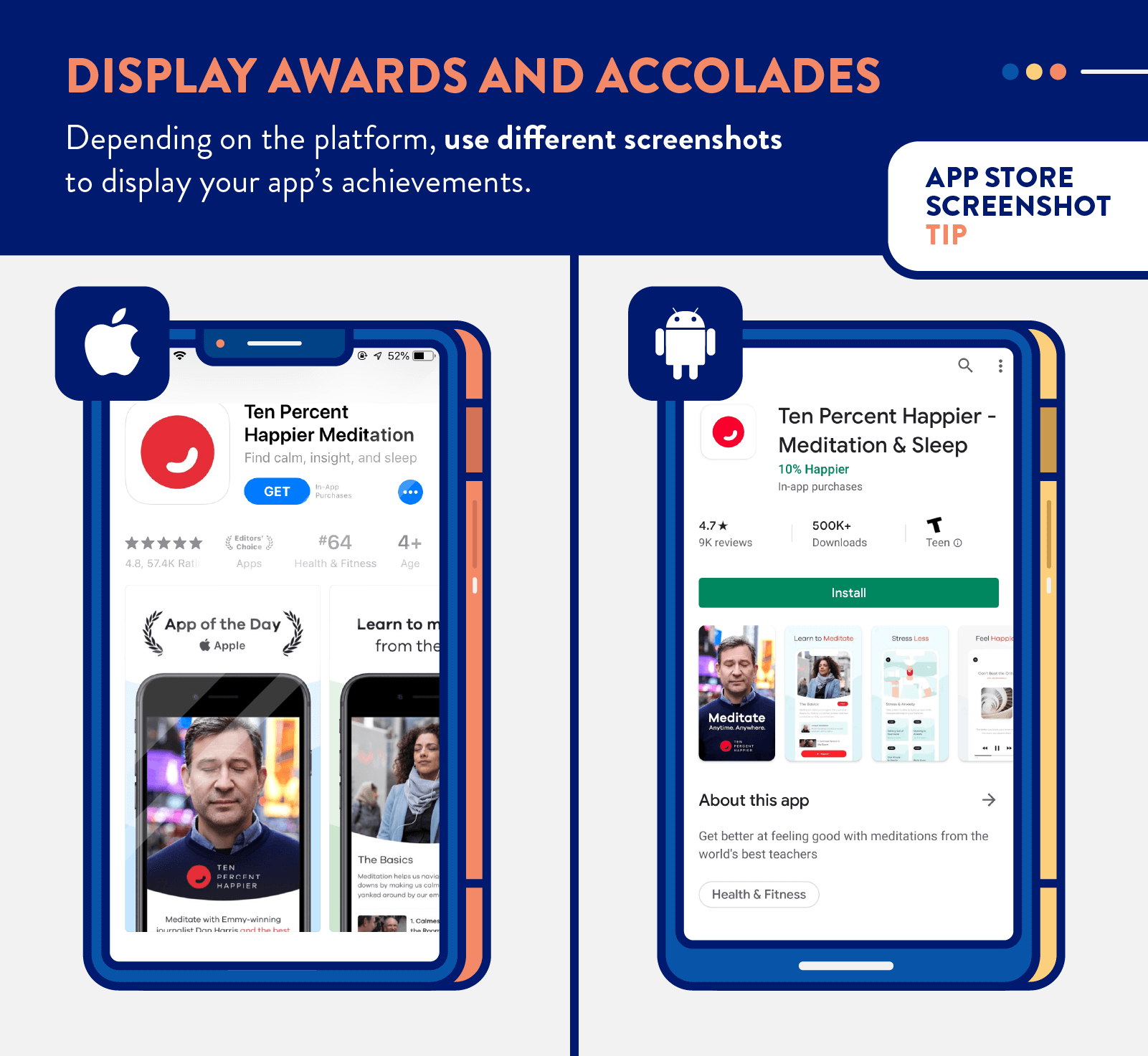 app store screenshots tip to display awards and accolades