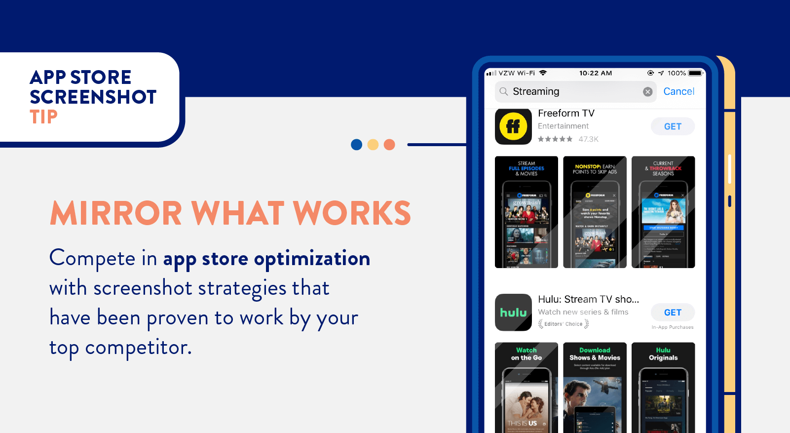 app store screenshots tip to mirror what works for top competitors