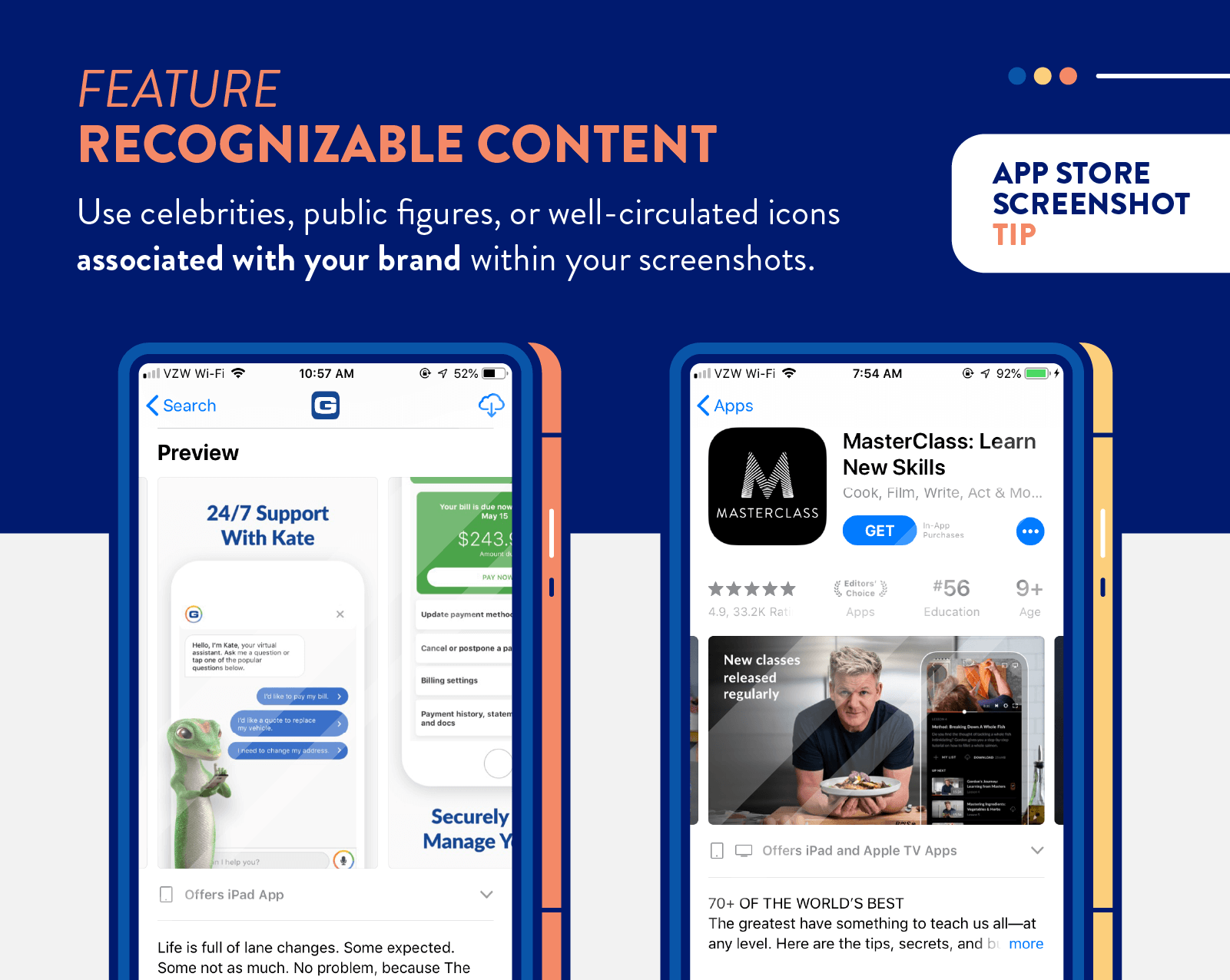 app store screenshots tip to feature recognizable content and celebrities