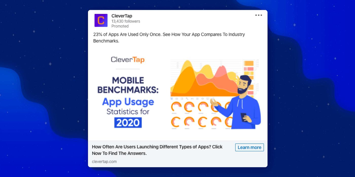 Linkedin Ad for Mobile Benchmark Report