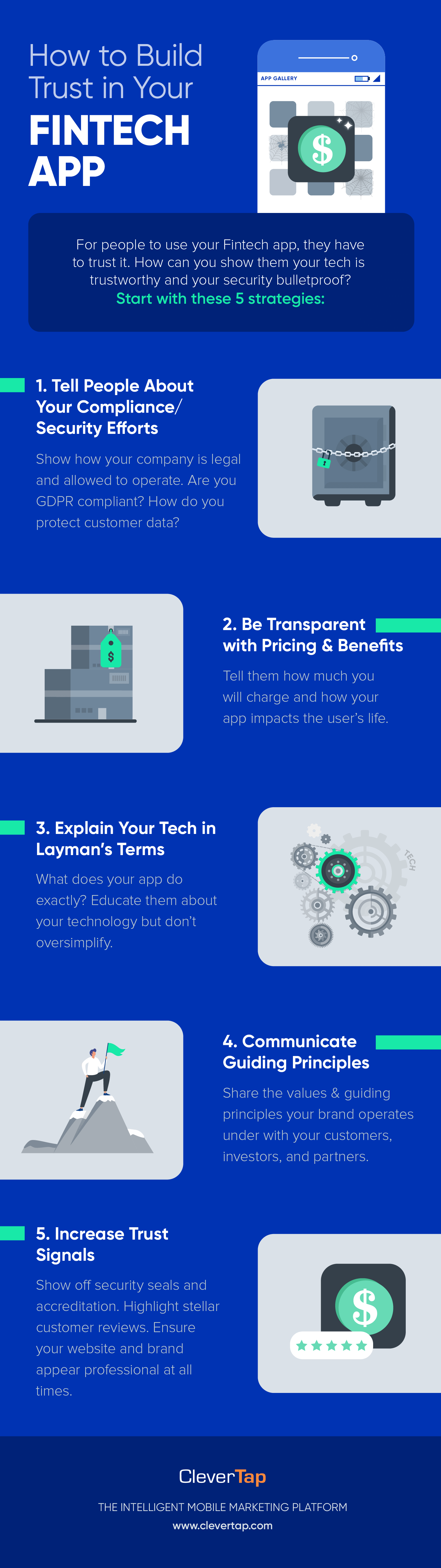 Infographic - How to Build Trust in your Fintech App
