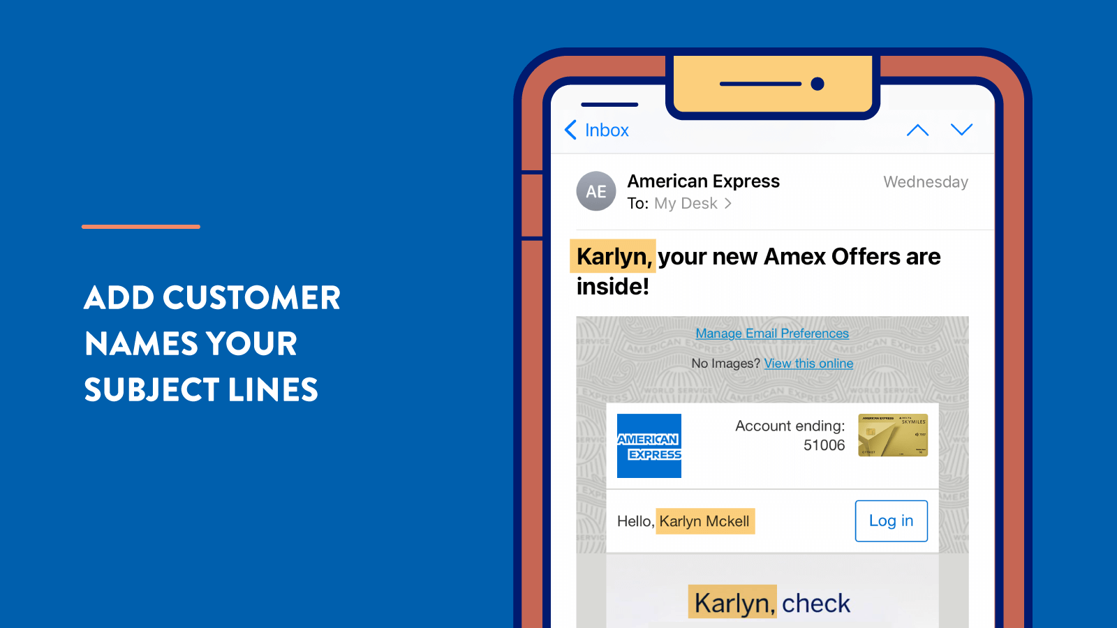 Personalization tip: Add Customer Names to Subject Lines