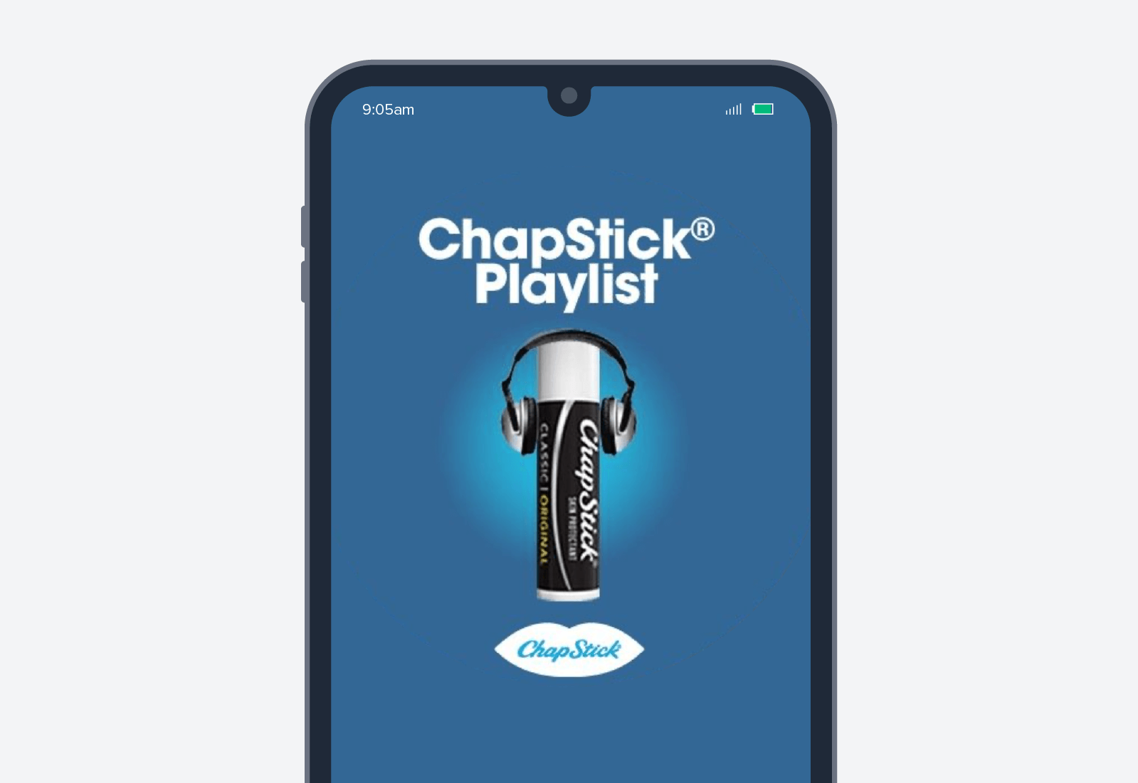 chapstick mobile advertisement