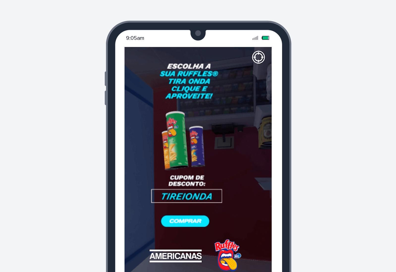 ruffles mobile advertisement