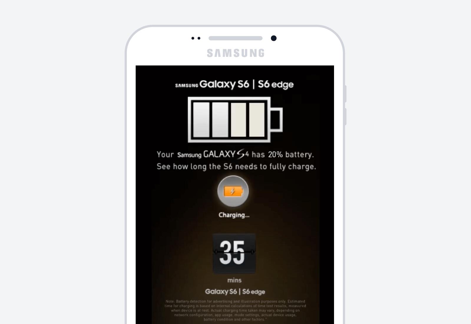samsung mobile advertisement