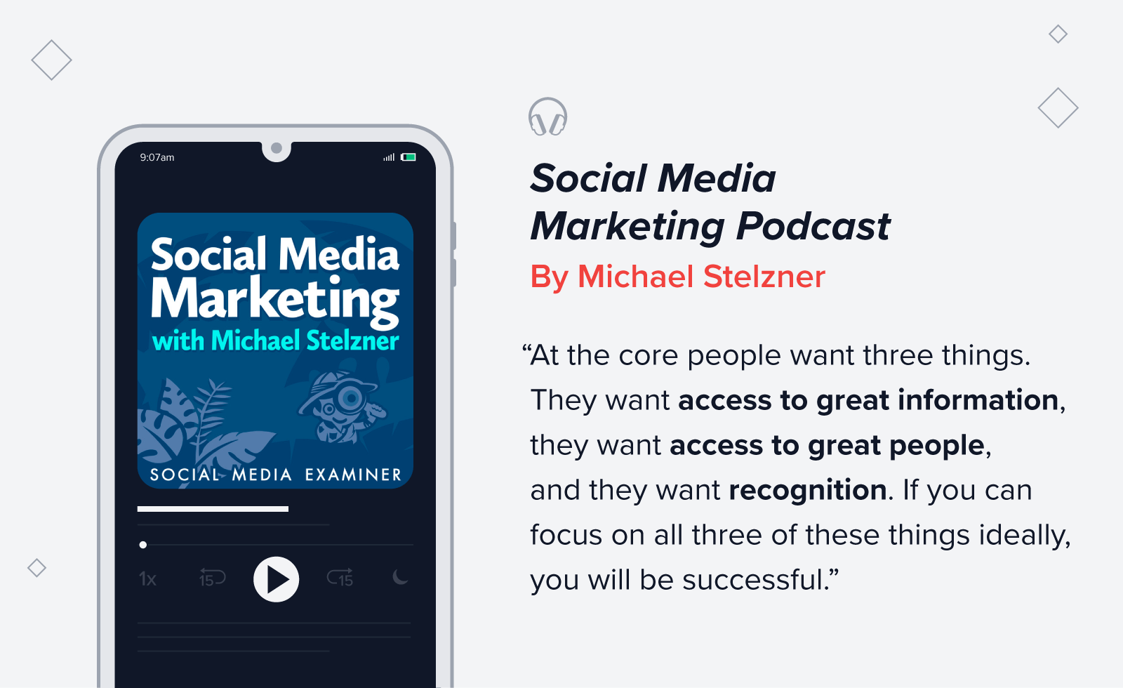 Social Media Marketing Podcast quote