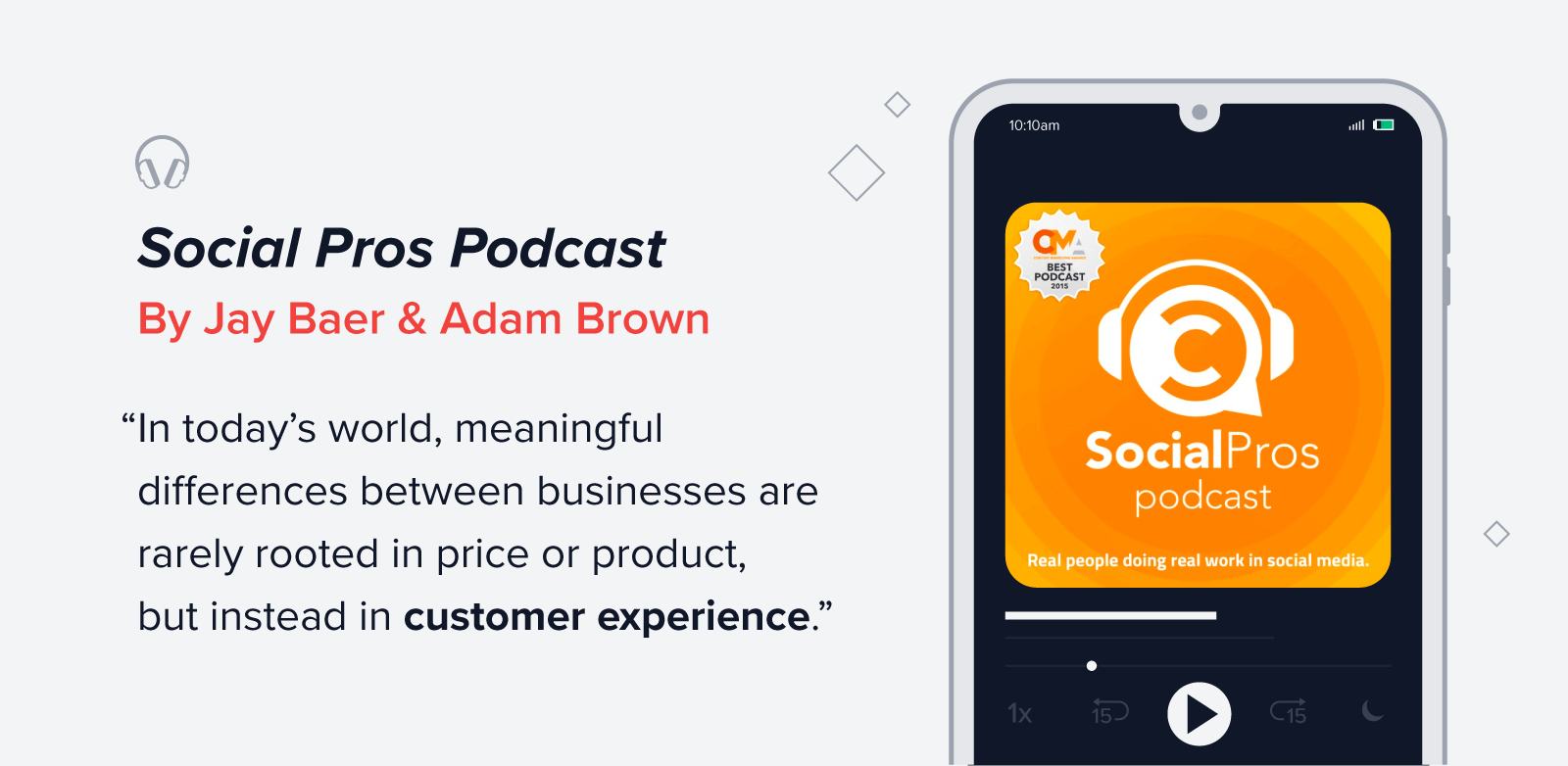 Social Pros podcast quote
