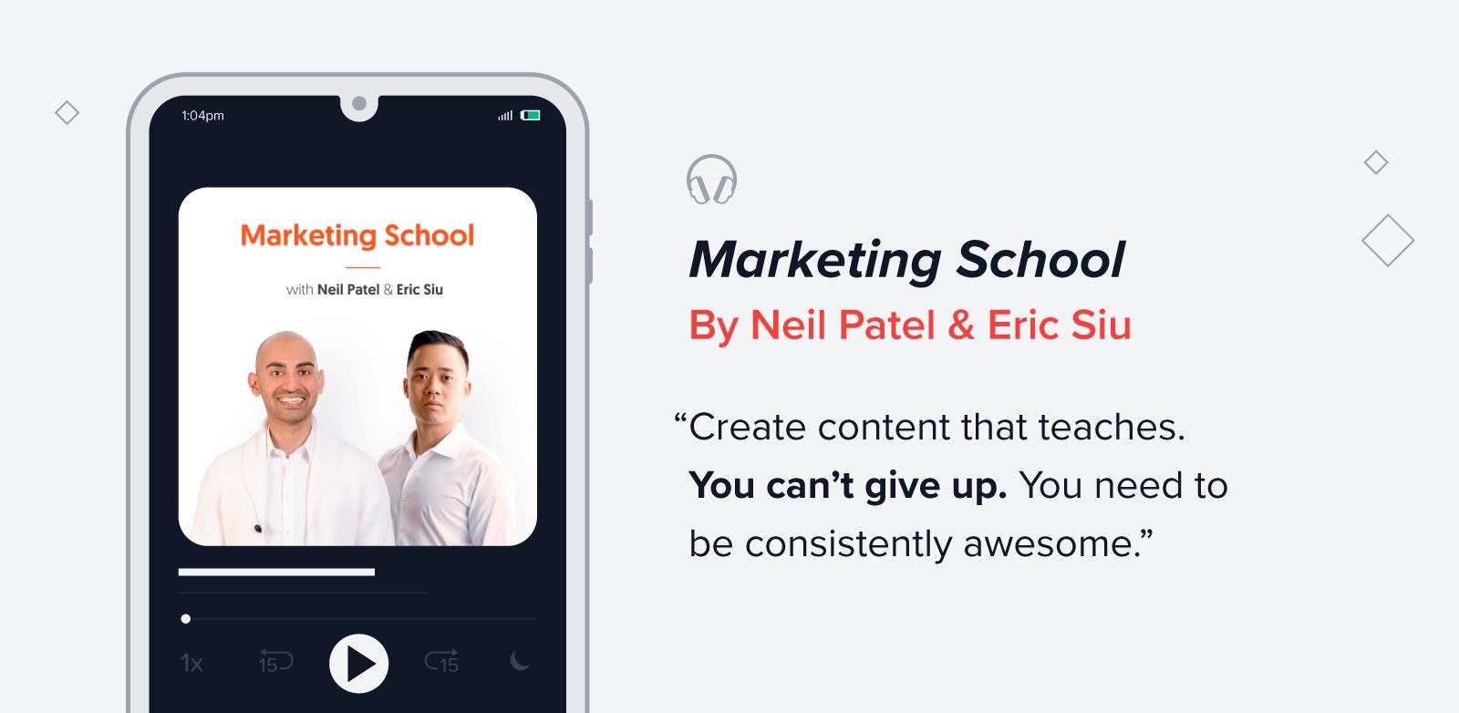 Marketing school podcast quote