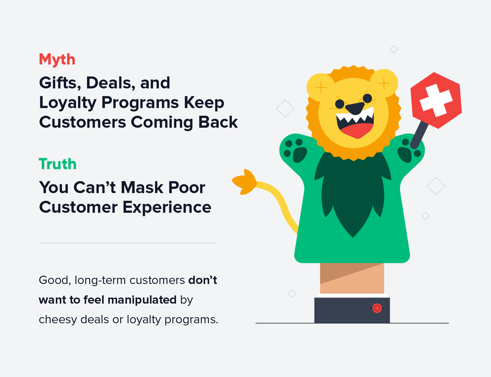 You can't mask poor customer experience